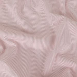 Pink and White Raised Pinstripes Cotton Shirting