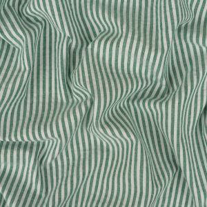 Arctic Green and White Candy Striped Cotton Seersucker