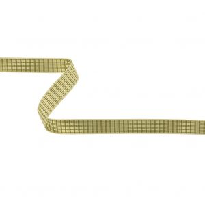 Moss Green and White Rectangles Jacquard Ribbon - 0.625