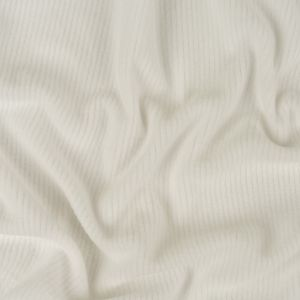 Bright White Ribbed Recycled Polyester Stretch Fleece
