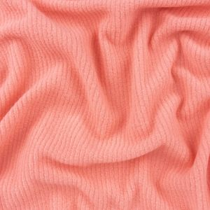 Strawberry Ice Ribbed Recycled Polyester Stretch Fleece