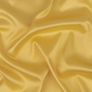 Soft Yellow Stretch Polyester Satin Lining