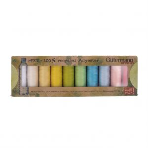 Gutermann Pastel Shades 100% Recycled Polyester Thread Set - 10ct