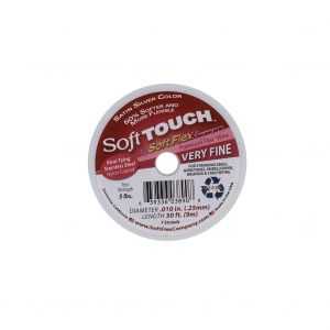 Soft Touch Satin Silver .010 Stainless Steel Wire - 30 FT