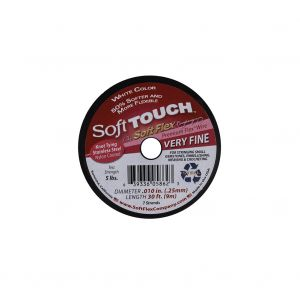 Soft Touch White .010 Stainless Steel Wire - 30 FT