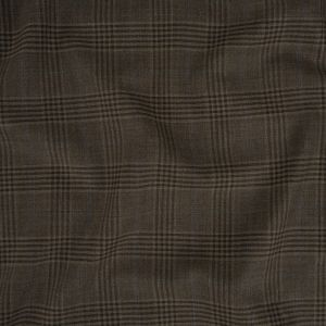 Italian Mulch, Steeple Gray and Sky Blue Plaid Wool Suiting
