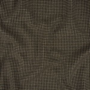 Italian Obsidian and Gray Checkered Wool Suiting