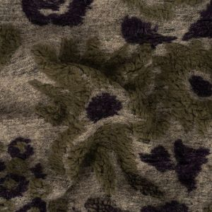 Gray, Mysterioso and Olive Dimensional Floral Chunky Acrylic Knit