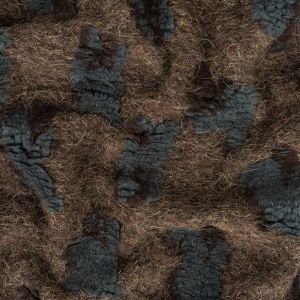 Charcoal and Dusty Blue Sheep Fuzzy Wool Knit