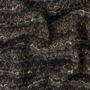 Raven, Gray and Multicolor Striped Chunky Wool Knit
