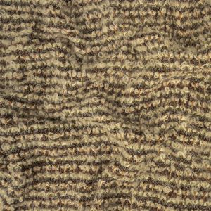 Gray, Cream and Multicolored Boucle Stripes Chunky Wool Knit