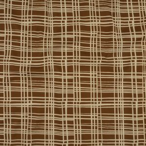 Mood Exclusive Brown Gridlock Stretch Cotton Twill