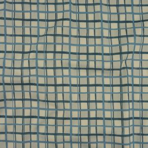 Mood Exclusive Real Teal City Windows Stretch Cotton Twill