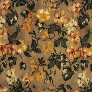 Mood Exclusive Taupe May Flowers Cotton Poplin