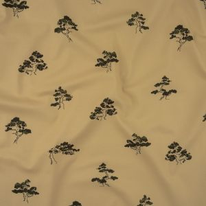 Mood Exclusive Bleached Sand Happy Little Trees Stretch Cotton Twill