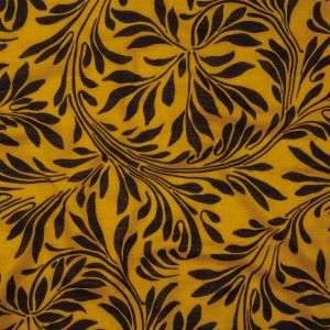 Mood Exclusive Marbled Leaves Gauzy Cotton Double Cloth