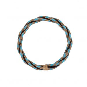 Blue and Brown Rattan Handle - 6.5