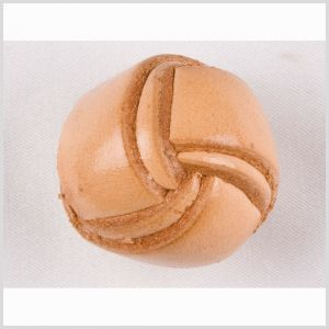 Natural Leather Button - 24L/15mm