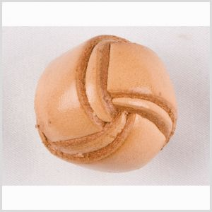 Natural Leather Button - 40L/25mm