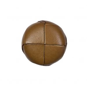 Natural Leather Shank Back Button - 36L/23mm