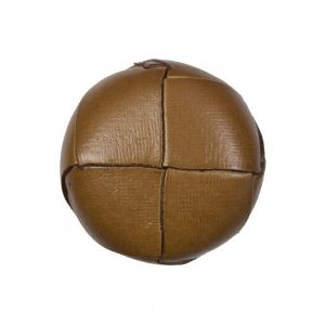 Natural Leather Shank Back Button - 40L/25.5mm