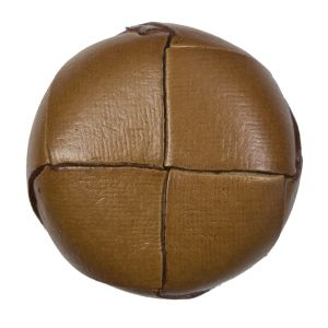 Natural Leather Shank Back Button - 54L/34mm