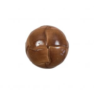Lacquered Natural Leather Button - 32L/20mm