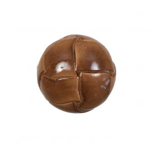 Lacquered Natural Leather Button - 36L/23mm