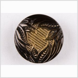 Gold Shaded Glass Button - 58L/37mm