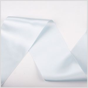 3.75 Pale Blue Double Face French Satin Ribbon