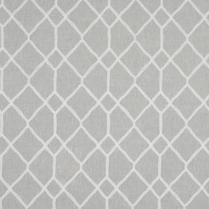 British Imported Silver Canvas with Stitched Geometric Design