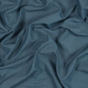 British Imported Navy Polyester, Cotton and Linen Woven