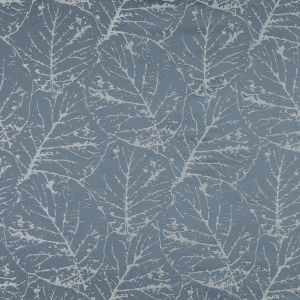 British Imported Sky Satin-Faced Jacquard with Overlapping Leaves