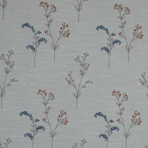 British Imported Ink Imitation Dupione with Embroidered Flowers