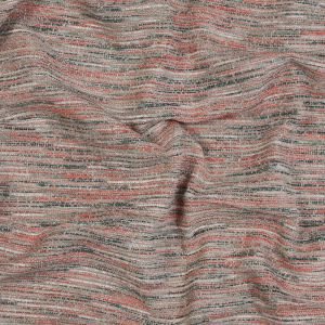 British Imported Coral Chenille Tweed