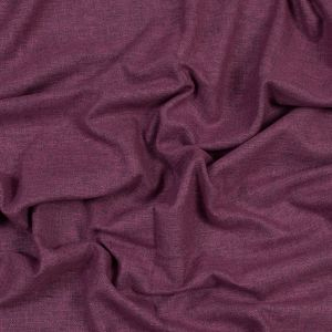 British Imported Plum Polyester and Cotton Woven