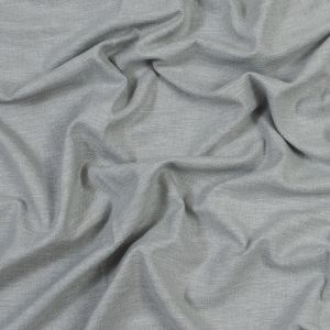 British Imported Silver Polyester and Cotton Woven