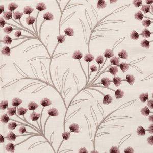 British Imported Mulberry Floral Embroidered Imitation Dupioni