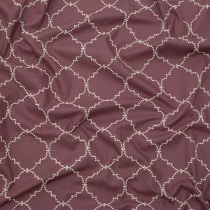 British Imported Mulberry Moroccan Embroidered Imitation Dupioni