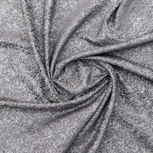 British Imported Graphite Crackle Polyester Jacquard