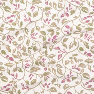 British Imported Mulberry Floral Polyester and Cotton Jacquard