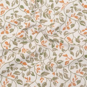 British Imported Paprika Floral Polyester and Cotton Jacquard
