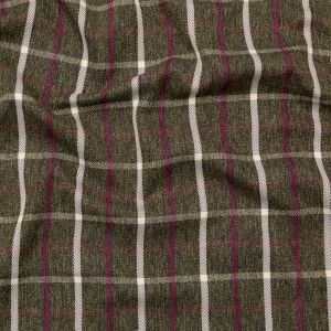 British Imported Forest Tattersall Check and Herringbone Woven