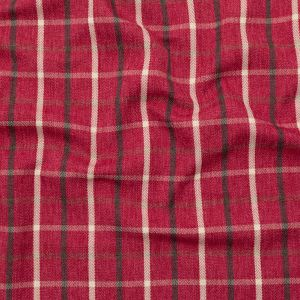 British Imported Vintage Tattersall Check and Herringbone Woven