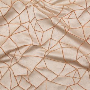 British Imported Copper Stained Glass Satin-Faced Jacquard