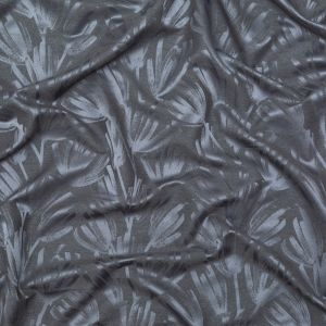 British Imported Slate Spider Mum Spray Floral Polyester Jacquard