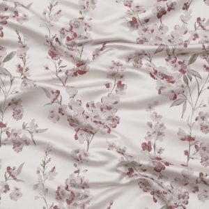 British Imported Heather Satin-Faced Floral Jacquard