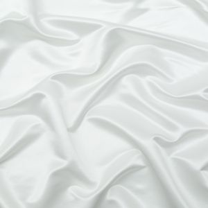 British Imported White Satin-Faced Shantung