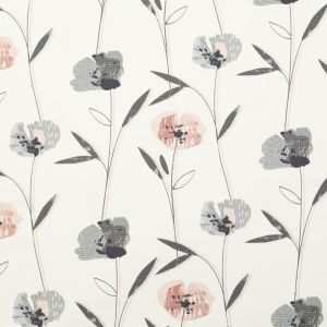 British Imported Blush Floral Printed Cotton Canvas
