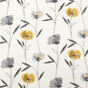 British Imported Sunflower Floral Printed Cotton Canvas